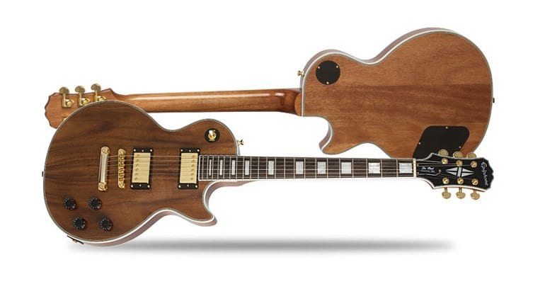Epiphone Limited Edition Koa topped Les Paul Custom
