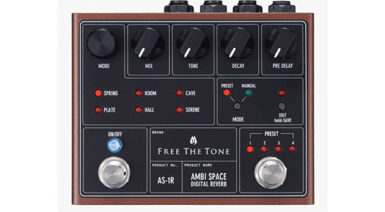 Free The Tone Ambispace AS-1R reverb pedal