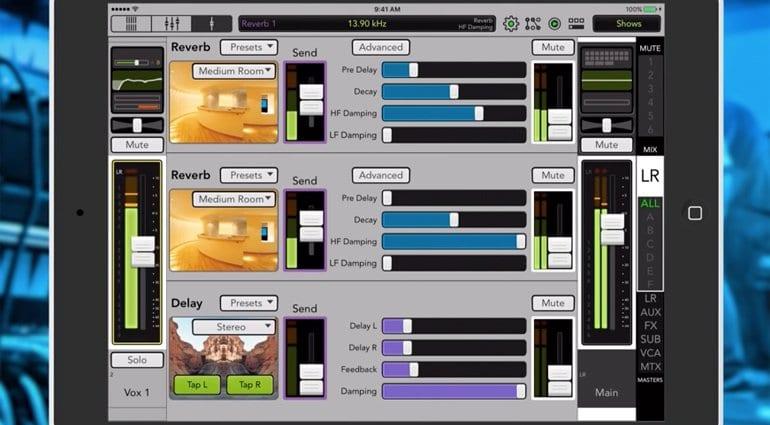 Mackie Master Fader App Version 4.5 - New Reverbs