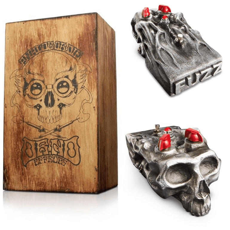 Dr No Skull Fuzz Limited Edition fuzz pedal wooden box