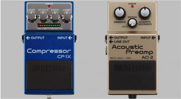 Boss CP-1X Compressor AD-2 Acoustic Preamp pedals