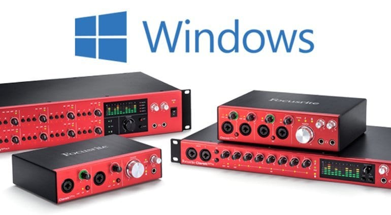 Focusrite Clarett interfaces now with Windows drivers