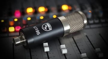 Soundelux U195 Microphone (on the console)