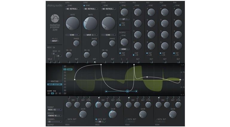 Dialog Audio Modulation Processor 3244 waveform editing