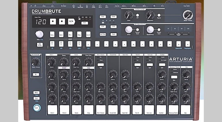 arturia drumbrute analogue drum machine top