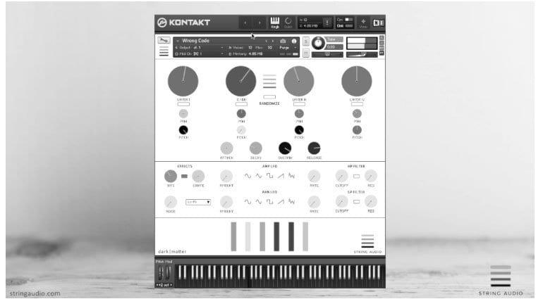 String Audio Dark Matter Kontakt GUI