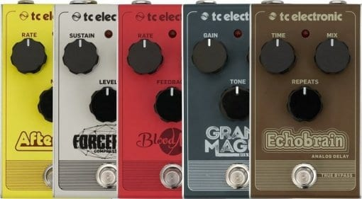 TC Electronics, Behringer, phaser, chorus, delay,distortion, compressor