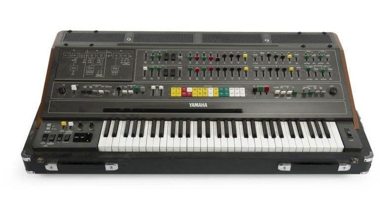 A Yamaha CS-80 synthesizer, serial number 1701.