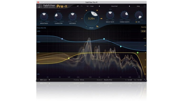 FabFilter Pro-R Reverb Plug-in Screenshot