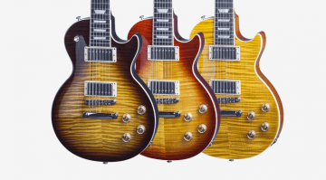 Gibson Les Paul Standard 7 String Tobacco Burst, Trans Amber and Heritage Cherry Sunburst