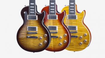 Gibson Les Paul Standard 7 String Tobacco Burst, Trans Amber and Heritage Cherry Sunburst