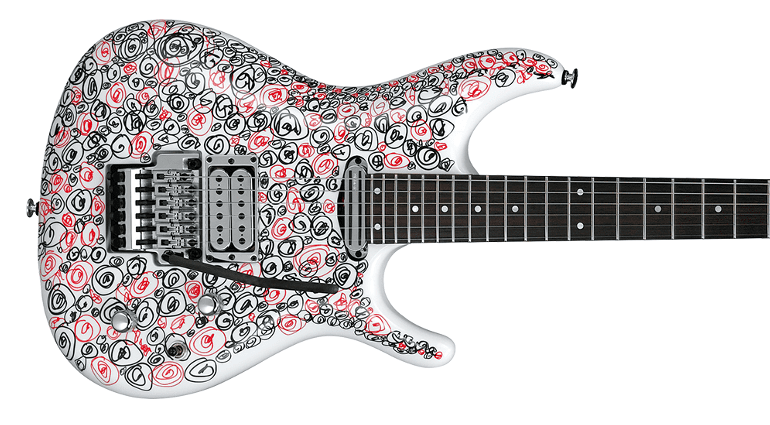 JSART2 Joe Satriani Ibanez Signature Guitar Hand Illustrated