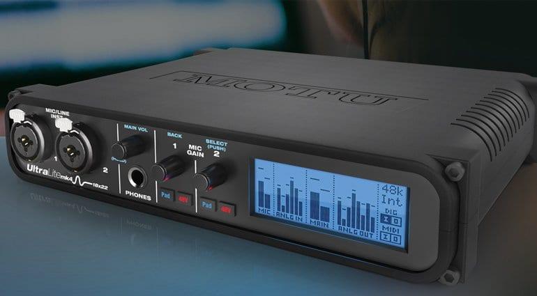 MOTU UltraLite MK4 audio interface side view