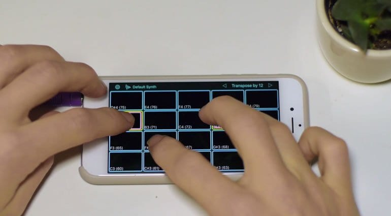 Aftertouch MPE controller App on an iPhone