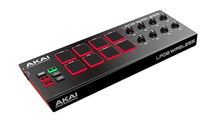 Akai LPD8 Bluetooth MIDI controller