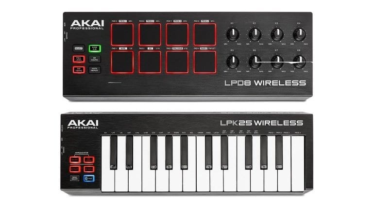 Akai LPD8 and LPK25 Bluetooth MIDI controllers