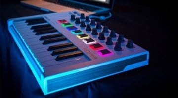 Arturia MiniLab MkII with lights on