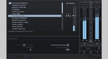 iZotope Ozone 7 Elements Screenshot
