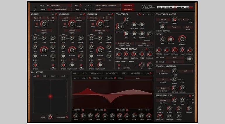 Rob Papen Predator 2 with EQ display