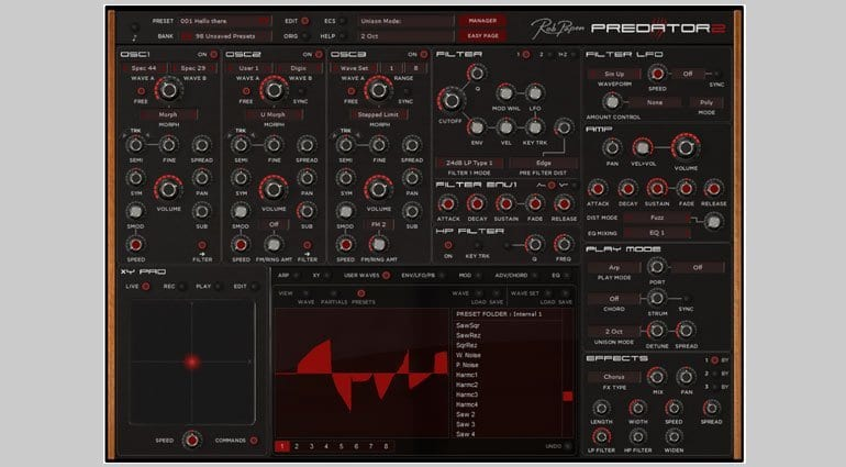 Rob Papen Predator 2 with waveform display