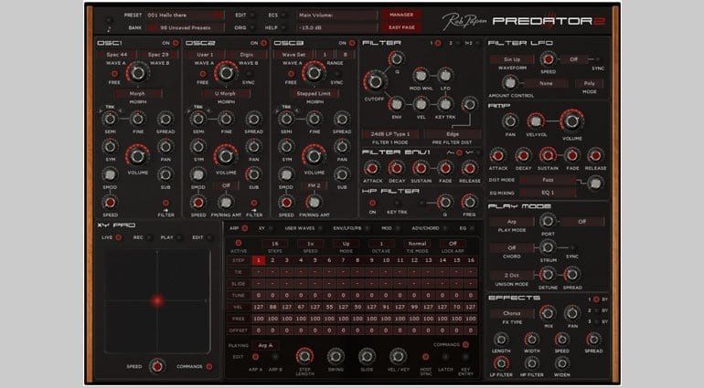Rob Papen Predator 2 with Arp display