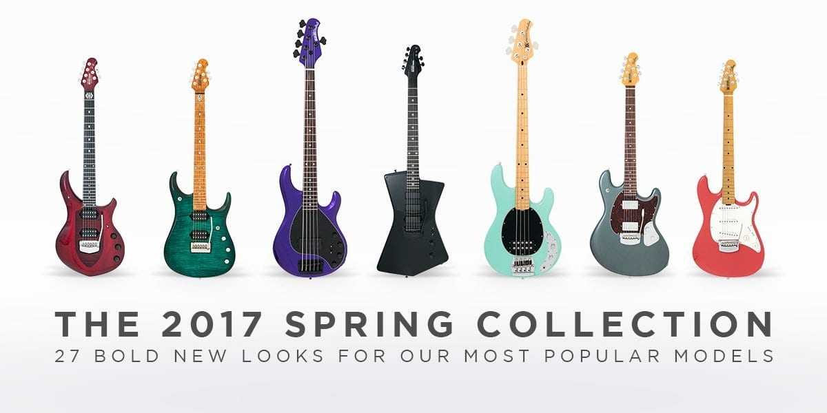 Ernie Ball splash some colour with Music Man 2017 guitar and