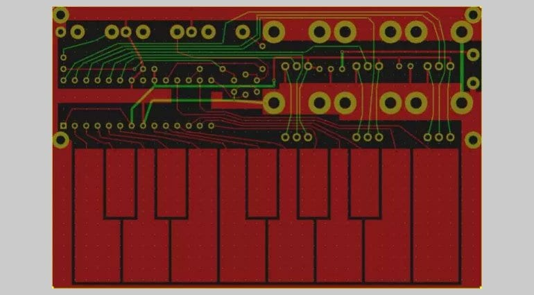 Tiny TS synthesizer PCB