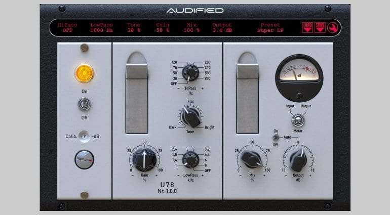 Audified U78 Saturator Plug-in