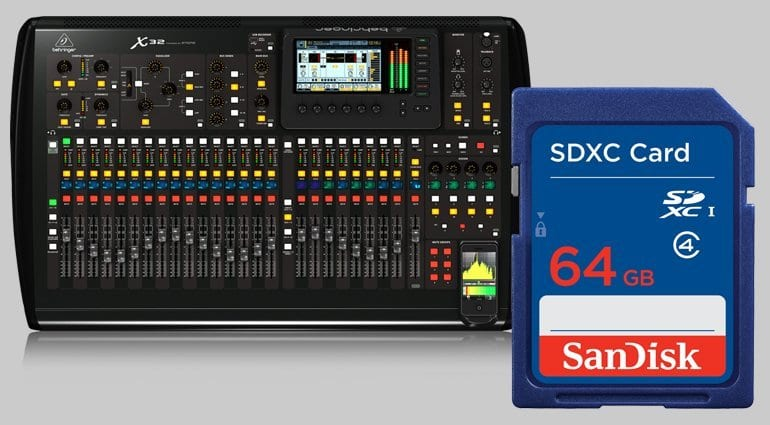 Behringer X32 with SD Card Recording Rumour
