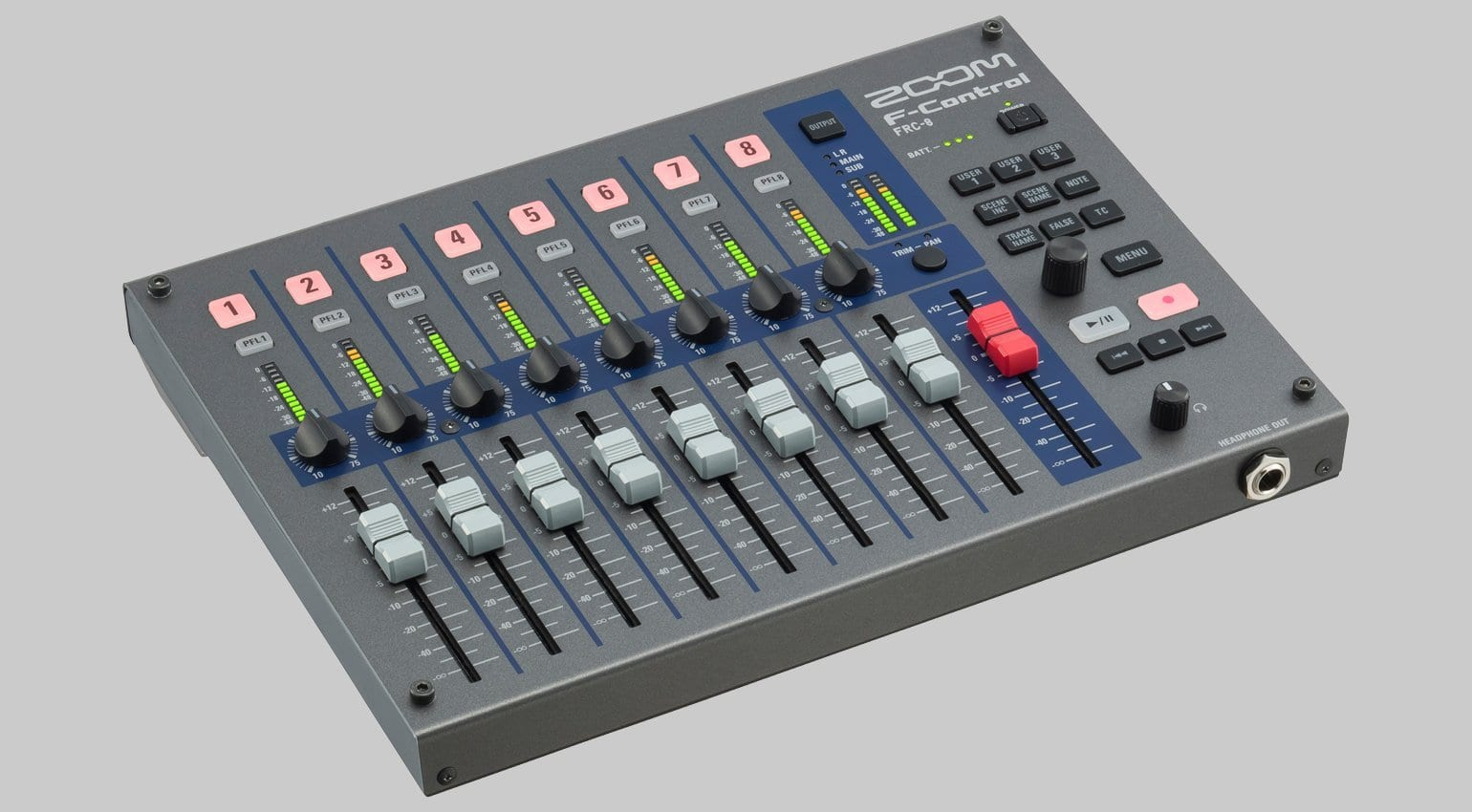 Zoom F-Control remote mixer for F8 and F4 announced