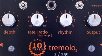 Empress Effects Limited run 10th Anniversary Tremolo pedal.