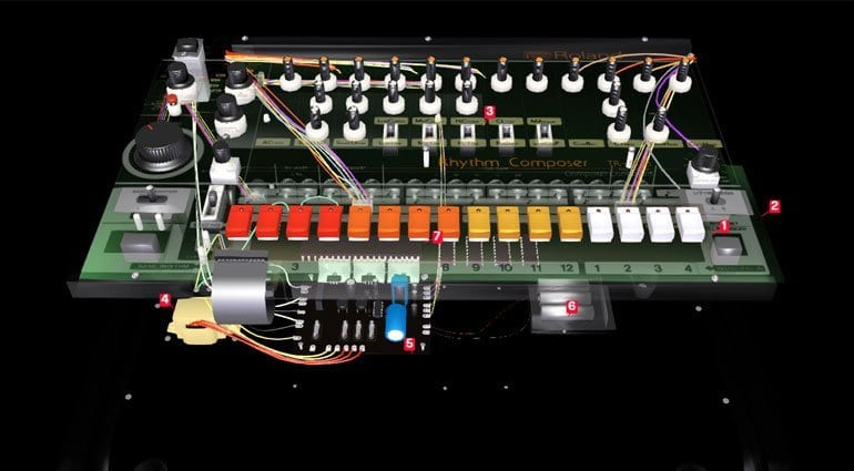 Look inside a Roland TR-808 - in 3D! - gearnews com