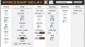 Spaceship Delay plug-in effect