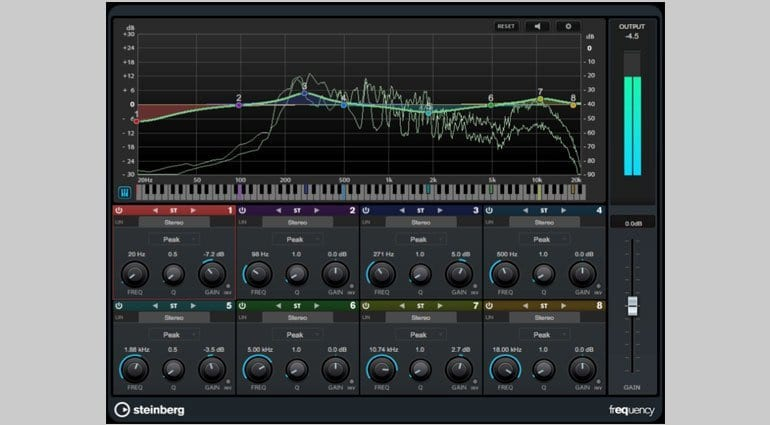 Steinberg Cubase 9 - Frequency EQ plug-in