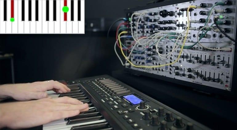 TouchKeys playing a modular