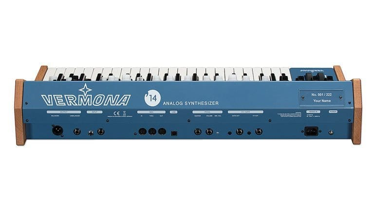 Vermona '14 Analogsynthesizer back