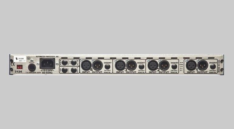 API 3124V Pre-amp Rear