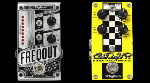 DigiTech FreqOut and CabDryVR pedals