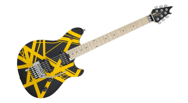 EVH Wolfgang Special Striped Black and Yellow