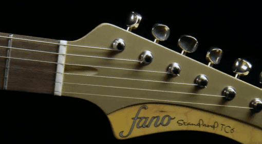 Fano Standard TC6 Shoreline Gold headstock