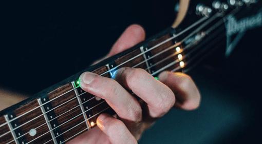 Fret Zeppelin LED guitar teaching aid on Kick Starter