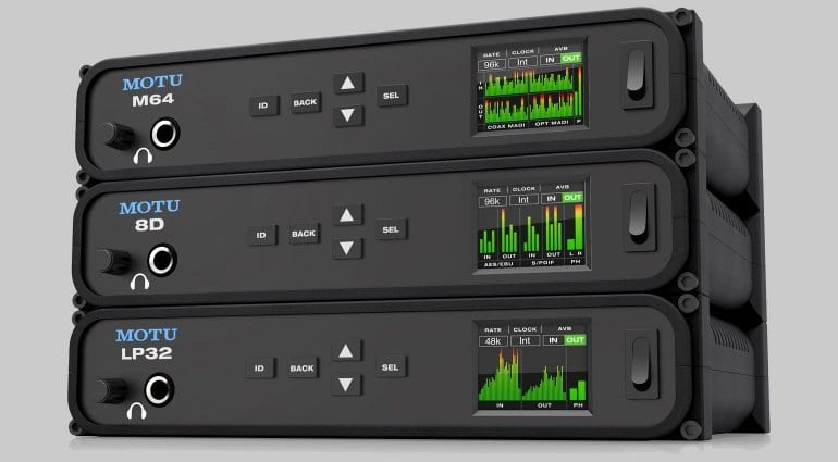 MOTU M64 8D and LP32 Interfaces