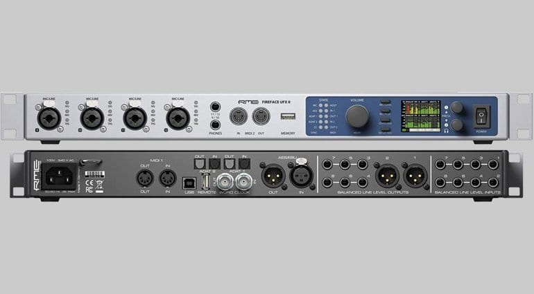 RME Fireface UFX II Interface - front and rear