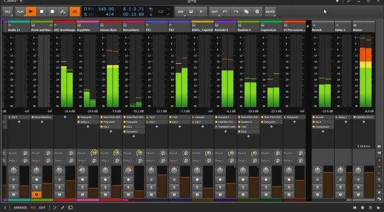 Bitwig Studio 2 Mixer