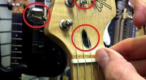 Kennis Russell Fender Squier fake guitar