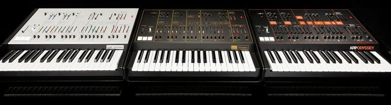 Korg Arp Odyssey FS in three flavours