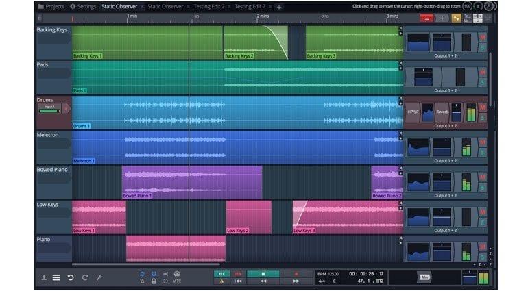 Tracktion Waveform's arranging