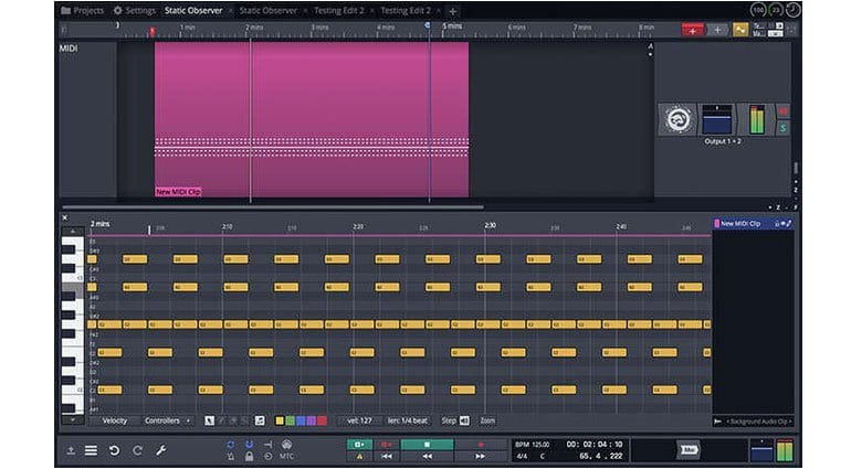 Tracktion Waveform's music editing