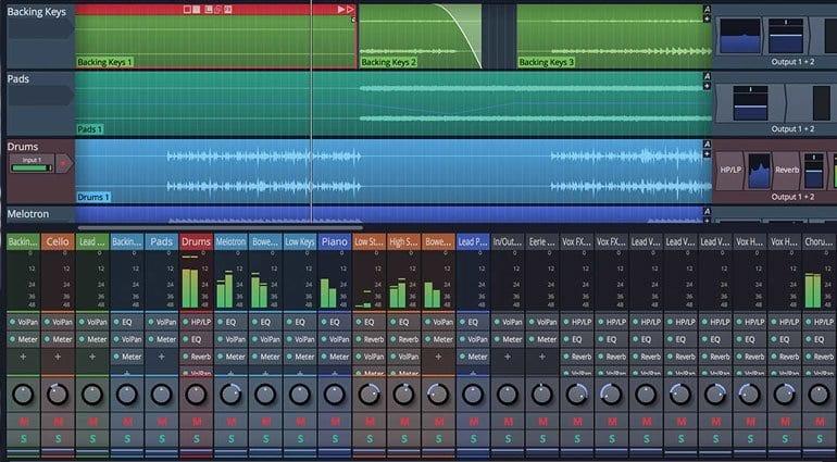 Tracktion Waveform's new mixer