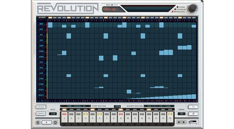 Wave Alchemy Revolution Sequencer page